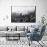 Poster Dimmig Grön Skog