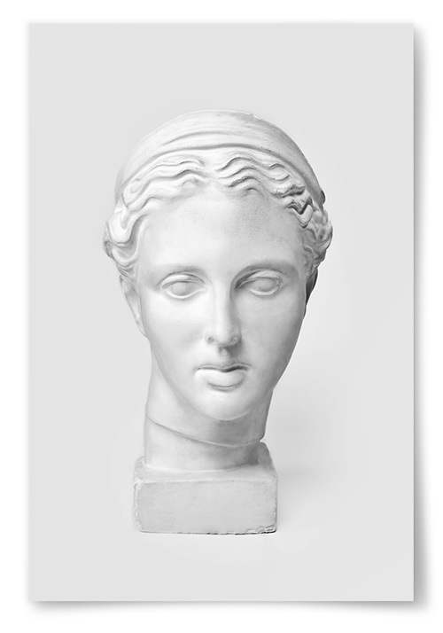Poster Statyett Ansikte