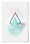 Poster Geometrisk Form Konst