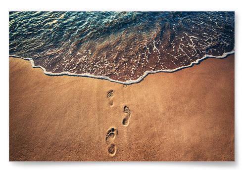 Poster Fotspår i Sanden