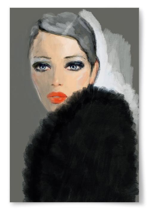 Poster Målning Kvinna