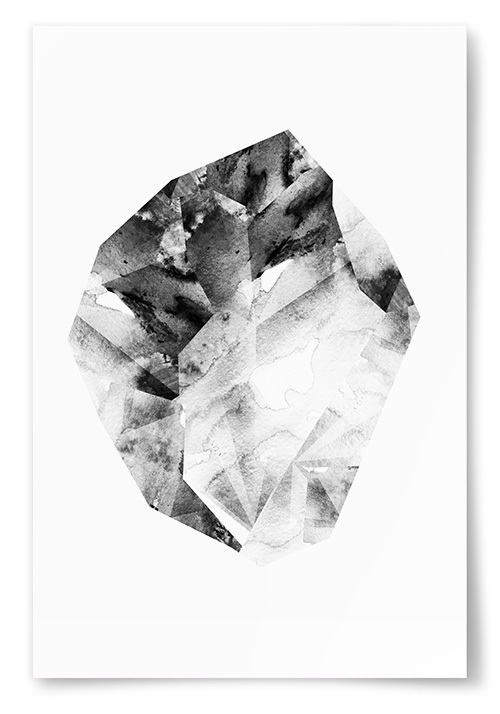 Poster Svartvit Kristall No4