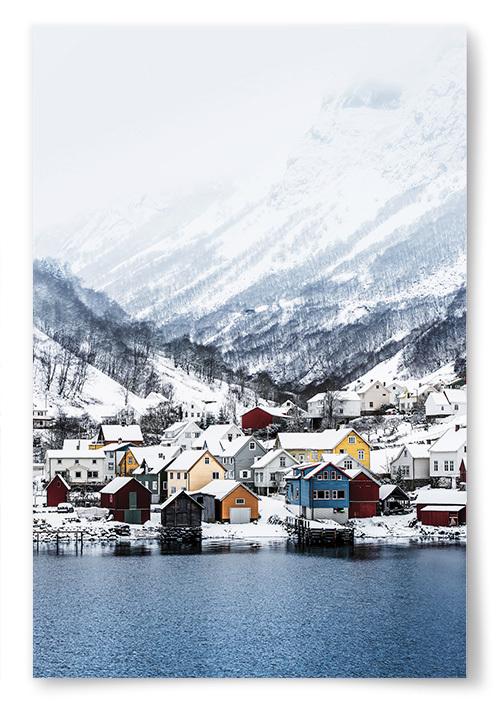 Poster Vinterstad