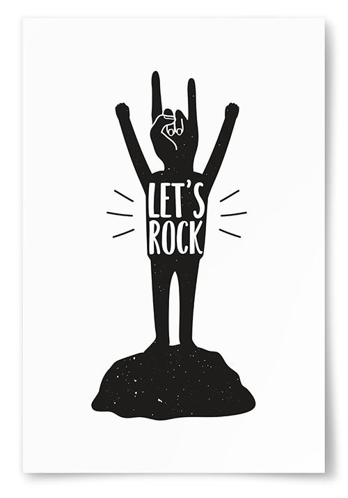 "Poster ""Let's Rock"""