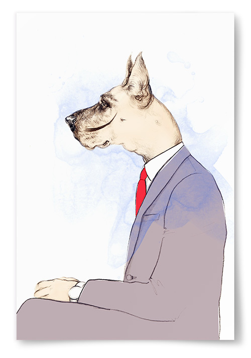 Poster Tecknad Hund