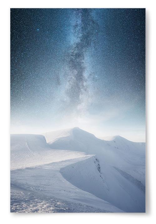 Poster Stjärnhimmel Snölandskap No1