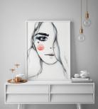 Poster Tjej i Akvarell
