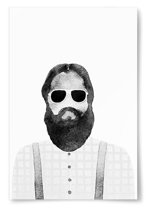 Poster Man med Solglasögon