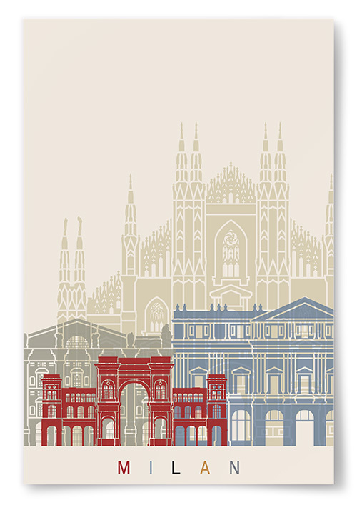 Poster Byggnader i Milan