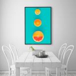 Poster Tre Citrusfrukter