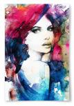 Poster Akvarell Kvinna Lila Blått