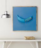 Poster Blå Banan i Bitar