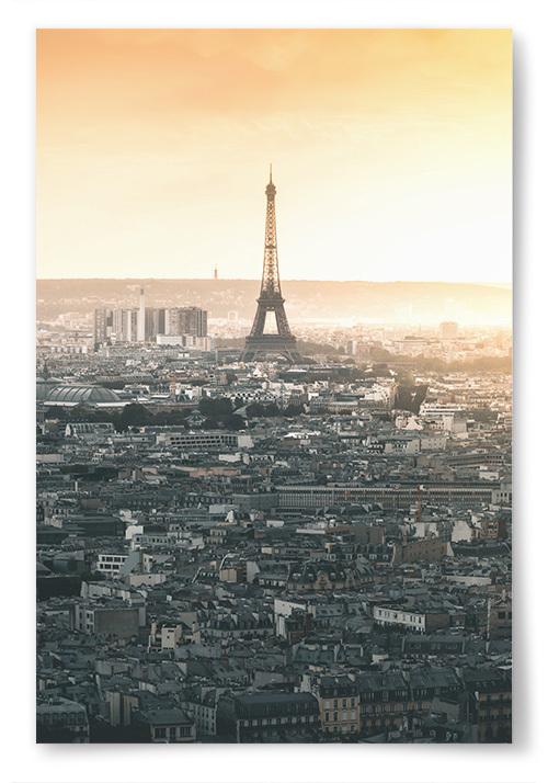 Poster Paris vid Solnedgång
