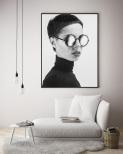 Poster Kvinna i Solglasögon