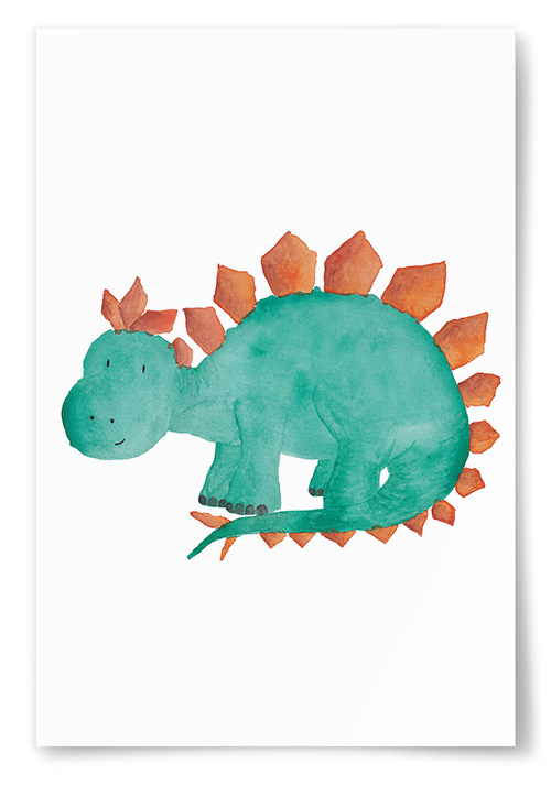 Poster Dinosaurie Taggy