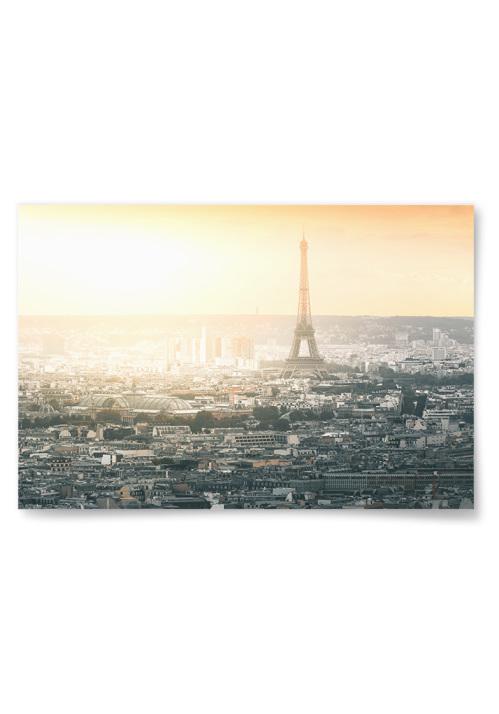 Poster Paris vid Solnedgång Liggande