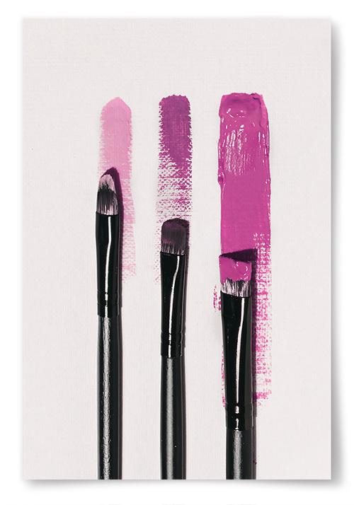 Poster Triple Hot Pink Brush