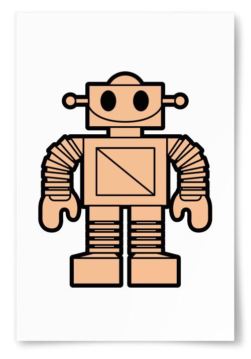 Poster - Robot Rosa - 40x50 thumbnail