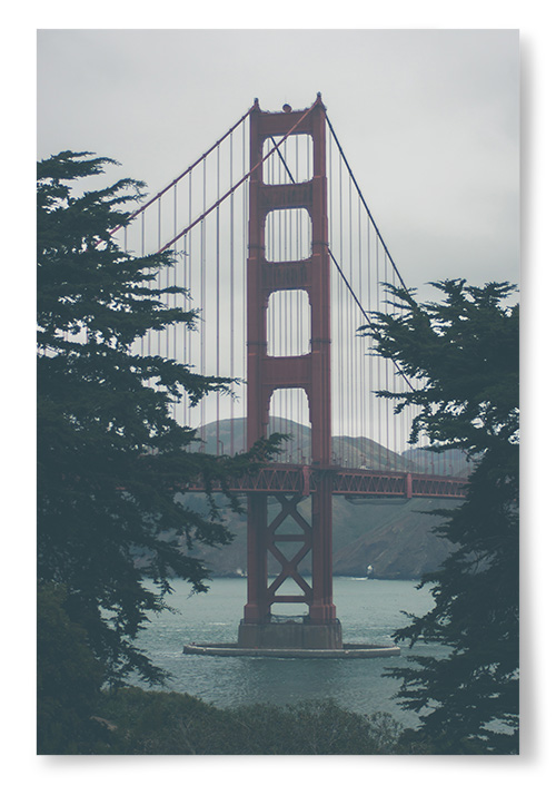 Poster - Golden Gate Bridge Konstfoto - 13x18 thumbnail
