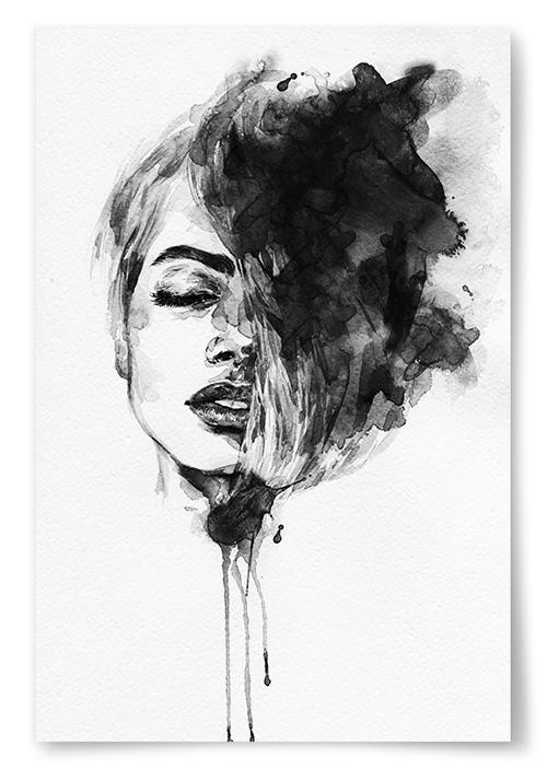 Poster - Kvinna Målning - 30x40 thumbnail